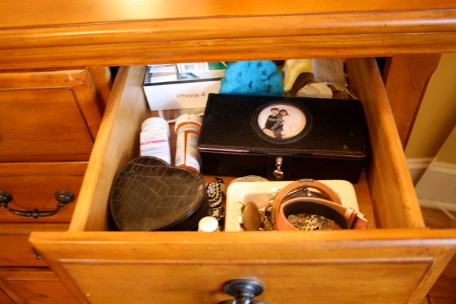 Jewery drawer.. Still need a better solution but it works for now